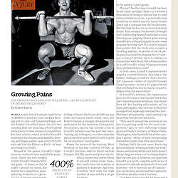 CrossFit image in Outside Magazine December 2013
