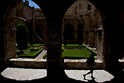 Exterior cloister of Narbonne Cathedral, Cathédrale Saint-Just-et-Saint-Pasteur de Narbonne, is a former cathedral, and national monument of France. It is dedicated to Saints Justus and Pastor. It was the seat of the Archbishop of Narbonne until the Archbishopric was merged into the Diocese of Carcassonne under the Concordat of 1801. The church was declared a basilica minor in 1886. The building, begun in 1272[2], is noted for being unfinished.