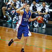 Anadolu Efes's Thomas Heurtel during their Turkish basketball league match Besiktas integral Forex between Anadolu Efes at BJK Akatlar Arena in Istanbul, Turkey, Monday, January 05, 2015. Photo by TURKPIX