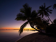 Sunrise, Les Tipaniers Hotel, Tiahura, Moorea, French Polynesia, South Pacific