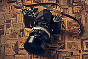 Image of a Nikon F Apollo 35mm SLR film camera with a 50mm lens by Randy Wells
