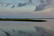 Marsh estuary at dawn at Isle of Palms near Charleston, South Carolina.