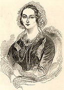 Henriette Sontag (1806-1854) celebrated German soprano, born at Koblenz.   Engraving of Madame Sontag published in  'The Illustrated London News' (London, 7 July 1849) when she appeared at Her Majesty's Theatre, London, in the title role of 'Linda di Chamonix' the opera by Donizetti.