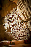 Carvings from Yeha Temple Museum. Tigray Region. Ethiopia, Horn of Africa