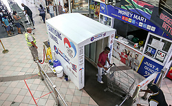 South Africa - Durban -  22 April 2020 -  The serious global situation has led to the creation a solution that can be of public value: a disinfection tunnel with an integrated, hydraulic system for the atomisation of any biocides and virucides. The tunnel contains the atomised liquid spray inside to effectively saturate the environment. Picture Leon Lestrade/African News Agency(ANA).