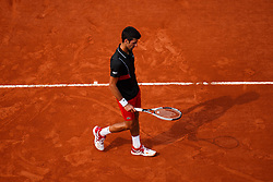 June 5, 2018 - Paris, U.S. - PARIS, FRANCE - JUNE 05: NOVAK DJOKOVIC (SBR) during day ten match of the 2018 French Open 2018 on June 5, 2018, at Stade Roland-Garros in Paris, France. (Photo by Chaz Niell/Icon Sportswire) (Credit Image: © Chaz Niell/Icon SMI via ZUMA Press)