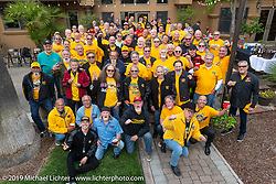 Hamsters gathered for a group photo at the home of Kim and Jon Borneman after the Arlen Ness Memorial - Celebration of Life. Pleasanton, CA, USA. Saturday, April 27, 2019. Photography ©2019 Michael Lichter.