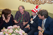 FRANCES WELCH; CRAIG BROWN; MATTHEW BELL; CHARLIE BROOKS, Tatler magazine Jubilee party with Thomas Pink. The Ritz, Piccadilly. London. 2 May 2012