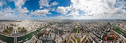 Aerial view of the cityscape, Paris, France