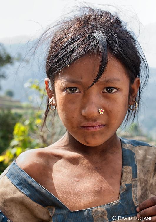 Portrait of a Nepalese girl taken between Pati Bhanjyang and  Thankuni Bhanjyang.