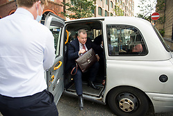 © Licensed to London News Pictures. 10/09/2020. London, UK. Lord DAVID FROST arrives at The Department for Business, for  a meeting with MICIEL BARNIER following a new round of negotiations between the UK Government and the EU begin. British Prime Minister Boris Johnson has threatened to overwrite parts of the EU withdrawal agreement signed with Brussels last October. Photo credit: Ben Cawthra/LNP
