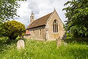Village parish church of  Saint Andrew, Darmsden, Suffolk, England, UK