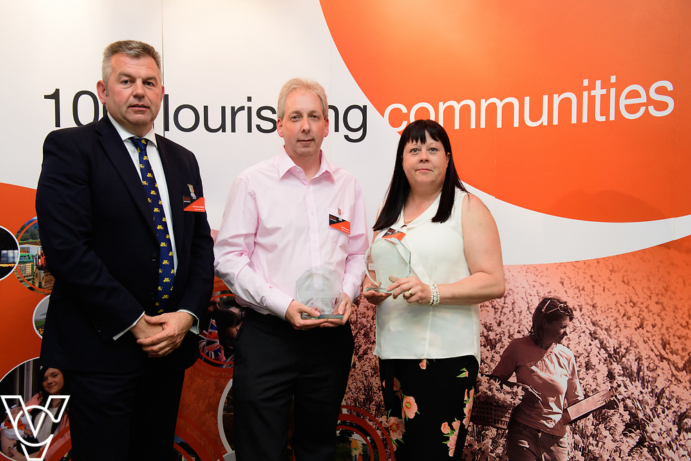 North Kesteven District Council's Building Control Awards 2018. NKDC leader Councillor Richard Wright presents the award for best new housing development to Lower Church Road, Skellingthorpe<br /> <br /> Picture: Chris Vaughan Photography for NKDC<br /> Date: June 7, 2018