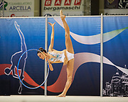Carlotta Maino from Virtus Giussano team during the Italian Rhythmic Gymnastics Championship in Padova, 25 November 2017.