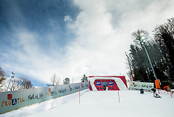 """Start house prior to the 1st Run of FIS Alpine Ski World Cup 2017/18 Ladies' Slalom race named """"Snow Queen Trophy 2018"""", on January 3, 2018 in Course Crveni Spust at Sljeme hill, Zagreb, Croatia. Photo by Vid Ponikvar / Sportida"""