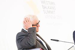 27.08.2015, Hofburg, Wien, AUT, Westbalkan Konferenz, Pressekonferenz der Aussenminister, im Bild Aussenminister Deutschland Frank- Walter Steinmeier // Germanys Minister for Foreign Affairs Frank- Walter Steinmeier during press conference of the foreign ministers during Western Balkans Summit at Hofburg in Vienna, Austria on 2015/08/27, EXPA Pictures © 2015, PhotoCredit: EXPA/ Michael Gruber