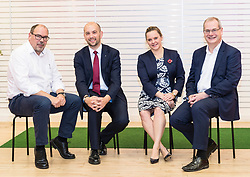 Ben Macpherson MSP helps to launch Big Issue Invest's Power Up programme, a lending scheme which will offer investment and support to early stage social ventures across Scotland.<br /> <br /> Pictured L to R:  John Montague, Managing Director of Group Operations at The Big Issue, Ben Macpherson MSP, Amanda Young, Head of Responsible Investment at Aberdeen Standard Investment and Craig MacDonald, Global Head of Fixed Income at Aberdeen Standard Investments