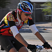 El Tour de Tucson 2016 finisher on 6th Avenue. Bike-tography by Martha Retallick.