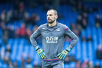 LONDON, ENGLAND - MARCH 31: Diego Cavalieri (16) of Crystal Palace during the Premier League match between Crystal Palace and Liverpool at Selhurst Park on March 31, 2018 in London, England.