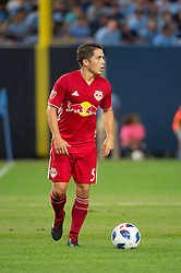 August 22, 2018 - Bronx, New York, United States - New York Red Bulls defender CONNOR LADE (5) during a regular season match at Yankee Stadium in Bronx, NY.  New York City FC tie the New York Red Bulls 1 to 1 (Credit Image: © Mark Smith via ZUMA Wire)