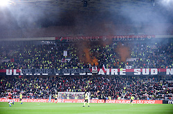 November 25, 2018 - Nice, France - ILLUSTRATION - SUPPORTERS - GILETS JAUNES - TRIBUNE (Credit Image: © Panoramic via ZUMA Press)