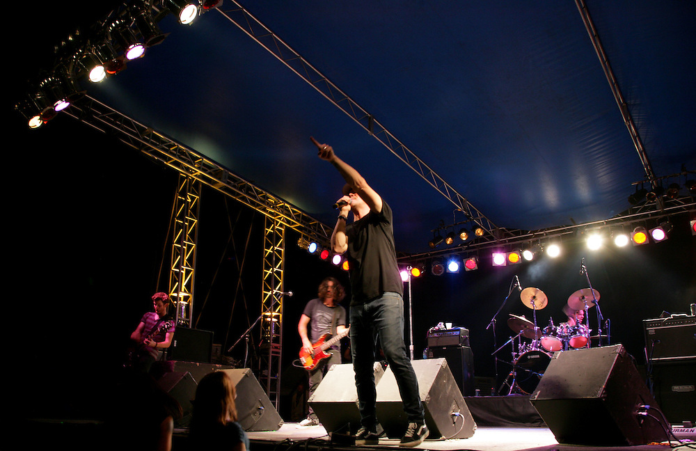 Candlebox performs live at the 2010 EasyRiders Motorcycle Rodeo in Fowlerville, Michigan