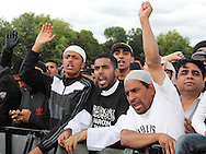 In the week that 3 Muslim men were killed during the riots in Birmingham, a peace rally was held in Winson Green to unite the community. Birmingham, UK, 14/08/2011