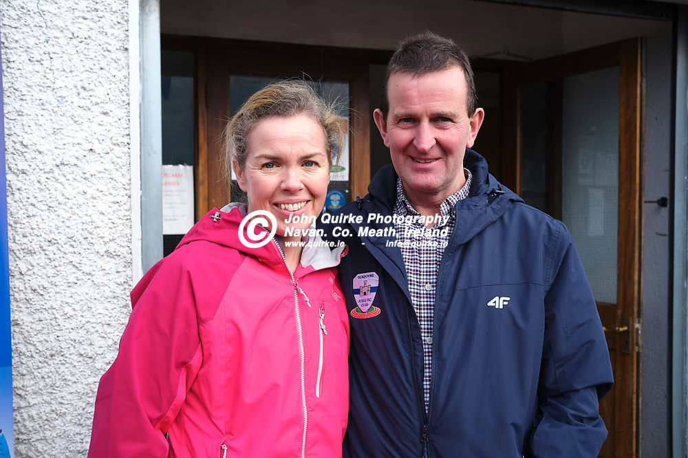 19/10/2019, Official opening of Dunboyne AC Track & facility<br /> Pictured at the opening were L-R, Roisin Johnson & Seamus Dunne<br /> Photo: David Mullen / www.quirke.ie ©John Quirke Photography, Unit 17, Blackcastle Shopping Cte. Navan. Co. Meath. 046-9079044 / 087-2579454.<br /> ISO: 400; Shutter: 1/250; Aperture: 6.4; <br /> File Size: 55.2MB