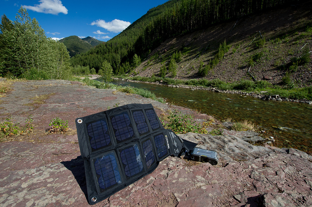 Charging batteries with Goal Zero solar panel system