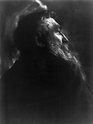 Portrait photograph of French sculptor Auguste Rodin (1840-1917) by Gertrude Kasebier (1852-1934)