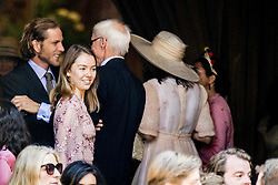 Princess Caroline's son Andrea Casiraghi and Princess Caroline and Ernst August of Hanover Sr daughter Princess Alexandra of Hanover at the Wedding ceremony of heir of the throne of German House of Hanover, Prince Ernst August Jr. of Hanover, Duke of Braunscshweig and Lueneburg, and Russian designer Ekaterina Masysheva at the Marktkirche church in Hanover, Germany, 08 July 2017. The son of Prince Ernst August of Hanover Sen., who is married to Princess Caroline of Monaco, is related to several royal houses in Europe. The House of Hanover is a German royal dynasty that also ruled the United Kingdom between. Ernst-August Sr.'s own father (Ernst-August IV) opposed his son's marriage to first wife Chantal, a Swiss commoner. Photo by Robin Utrecht/ABACAPRESS.COM