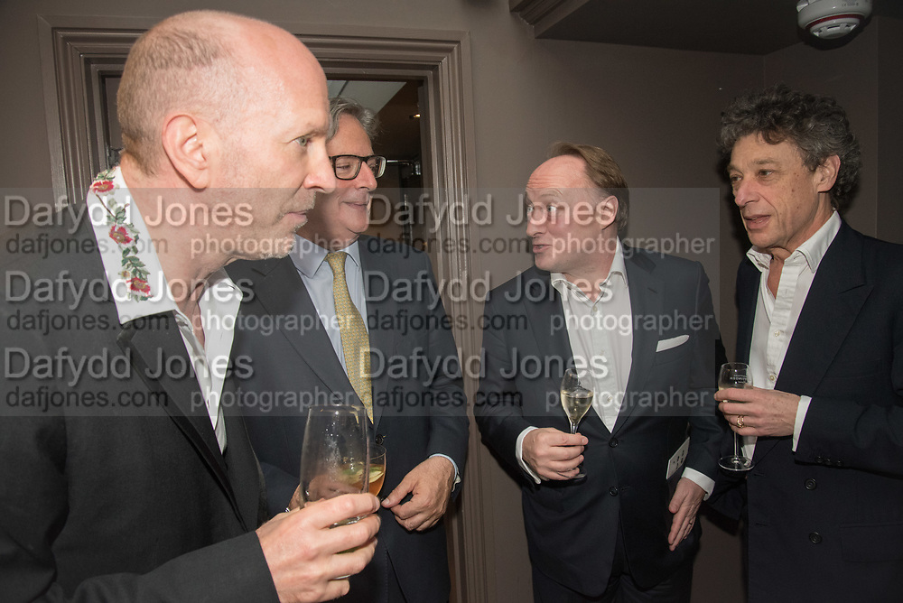SIMON SEBAG-MONTEFIORE; DOMINIC LAWSON; ANDREW ROBERTS,; ADAM ZAMOYSKI,  The inaugural Cliveden Literary Festival announcement. Cadogan Gardens. London. 15 May 2017