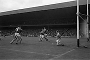 01/09/1968<br /> 09/01/1968<br /> 1 September 1968<br /> All-Ireland Minor Hurling Final: Cork v Wexford at Croke Park, Dublin.<br /> The Wexford goal keeper stops the ball, shot by Cork's M. Malone, from going into the net.