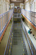 C wing inside HM Prison Wandsworth is a Category B men's prison at Wandsworth in the London Borough of Wandsworth, South West London, United Kingdom. It is operated by Her Majesty's Prison Service and is one of the largest prisons in the UK with a population over 1500 people. (photo by Andy Aitchison)