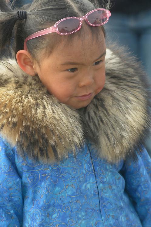 Barrow, Alaska, Cute little Alaska native girl .