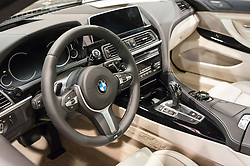 CHARLOTTE, NC, USA - November 11, 2015: BMW 640i Gran Coupe on display during the 2015 Charlotte International Auto Show at the Charlotte Convention Center in downtown Charlotte.