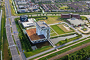 Nederland, Zuid-Holland, Zoetermeer, 23-05-2011; Bouwhuis, hoofdkantoor Bouwend Nederland van Klunder Architecten..Headoffice of Bouwend Nederlend, the Dutch Construction and Infrastructure Federation..luchtfoto (toeslag), aerial photo (additional fee required).copyright foto/photo Siebe Swart