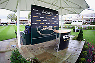 The Winners Podium prior to the October Finale Meeting at York Racecourse, York, United Kingdom on 11 October 2019.