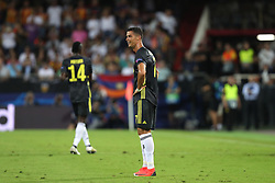 September 19, 2018 - Valencia, Spain - Cristiano Ronaldo of Juventus FC looks dejected after receiving a red card during the UEFA Champions League, Group H football match between Valencia CF and Juventus FC on September 19, 2018 at Mestalla stadium in Valencia, Spain (Credit Image: © Manuel Blondeau via ZUMA Wire)