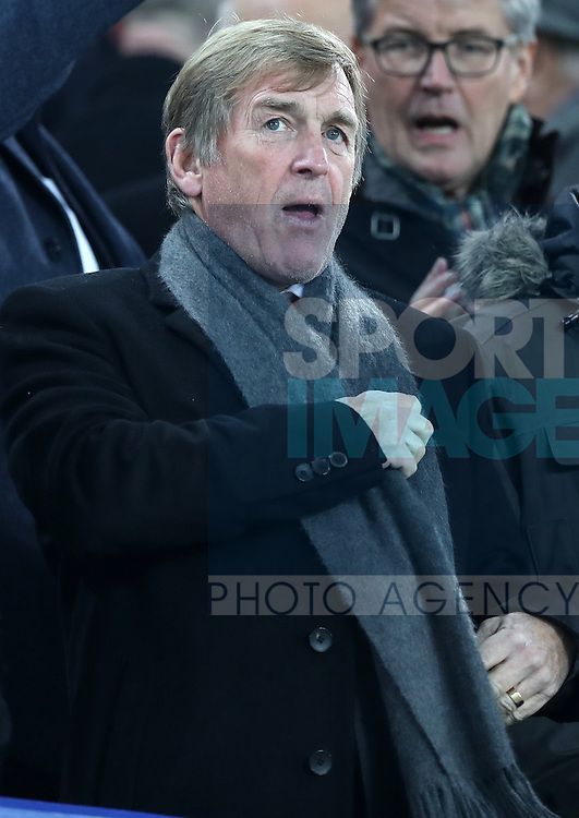Kenny Dalglish in the stands during the English Premier League match at Goodison Park, Liverpool. Picture date: December 19th, 2016. Photo credit should read: Lynne Cameron/Sportimage