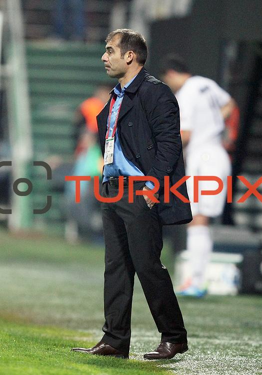 Orduspor's coach Metin Diyadin during their Turkish superleague soccer match Besiktas between Orduspor at Mardan Stadium in Antalya Turkey on Monday, 05 December 2011. Photo by TURKPIX