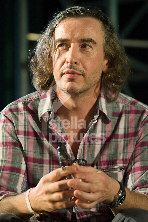 Picture by Alex Broadway. .15/07/11..Steve Coogan speaks on stage during a BAFTA Q&A session in the Film & Music tent at Latitude, a music and arts festival set on the Henham Estate in Suffolk..The event runs from July 14th to 17th 2011.
