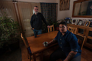 COLUMBIA, MD -- 12/20/14 -- Mark Johnson-Lewis, 48, and his son, Tyler Lewis, 22, talk about the complexity of being a biracial family..…by André Chung #_AC17486