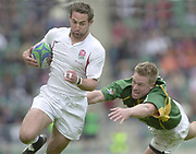 24/05/2002<br /> Sport - Rugby Union<br /> IRB World Sevens Series - Twickenham<br /> ENG v S.Africa<br /> Ben Gollings  Mid second half try.<br />    [Mandatory Credit, Peter Spurier/ Intersport Images]<br />    [Mandatory Credit, Peter Spurier/ Intersport Images]
