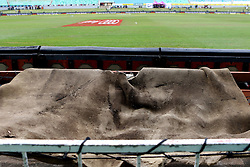 The sponge of the super sopper lays out to dry during day four of the first test match between South Africa and New Zealand held at the Kingsmead stadium in Durban, KwaZulu Natal, South Africa on the 22nd August 2016<br /> <br /> Photo by:   Anesh Debiky / Real Time Images