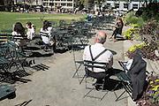 Enjoying a  summer day in Bryant Park.