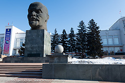 The world's largest sculpture of Vladimir Lenin is in Ulan-Ude's Sovetov Square. Buryatia, Siberia, Russia. Monday, February 24, 2020. Photography ©2020 Michael Lichter.