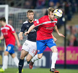 Falkirk's Rory Loy and Cowdenbeath's Kyle Miller.<br /> Falkirk 1 v 0 Cowdenbeath, William Hill Scottish Cup game played 29/11/2014 at The Falkirk Stadium.