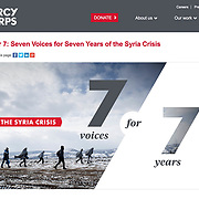 Mercy Corps campaign for the seven-year anniversary of the Syrian War, March 2018.