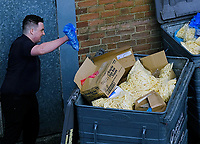 Burger King Southampton throw food in the bins   while There are homeless people sitting out front begging for food as Fast-food chains reopen as lockdown loosens photo by Michael Palmer